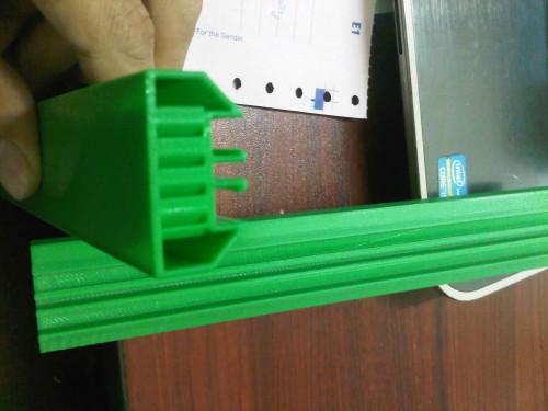 in 3D mẫu bạc trượt-thanh ray dùng thử nghiệm