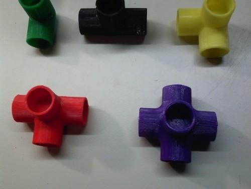 in 3D các khớp nối làm đồ handmade hoặc cấu trúc 3D