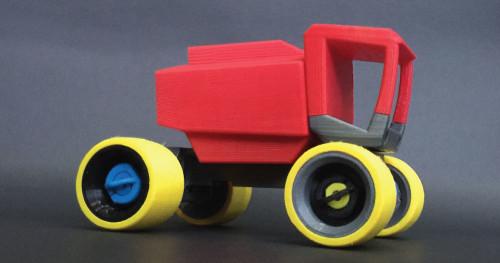 in 3D mẫu xe đồ chơi trong truyện