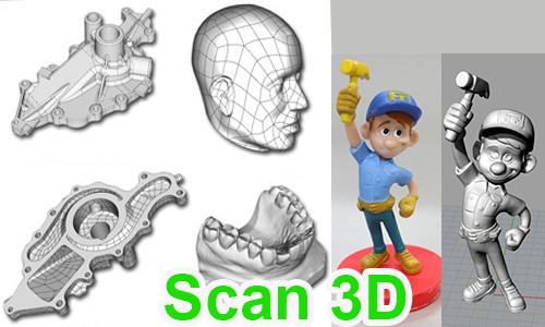 Dịch vụ scan 3D – quét mẫu 3D – sao chép 3D
