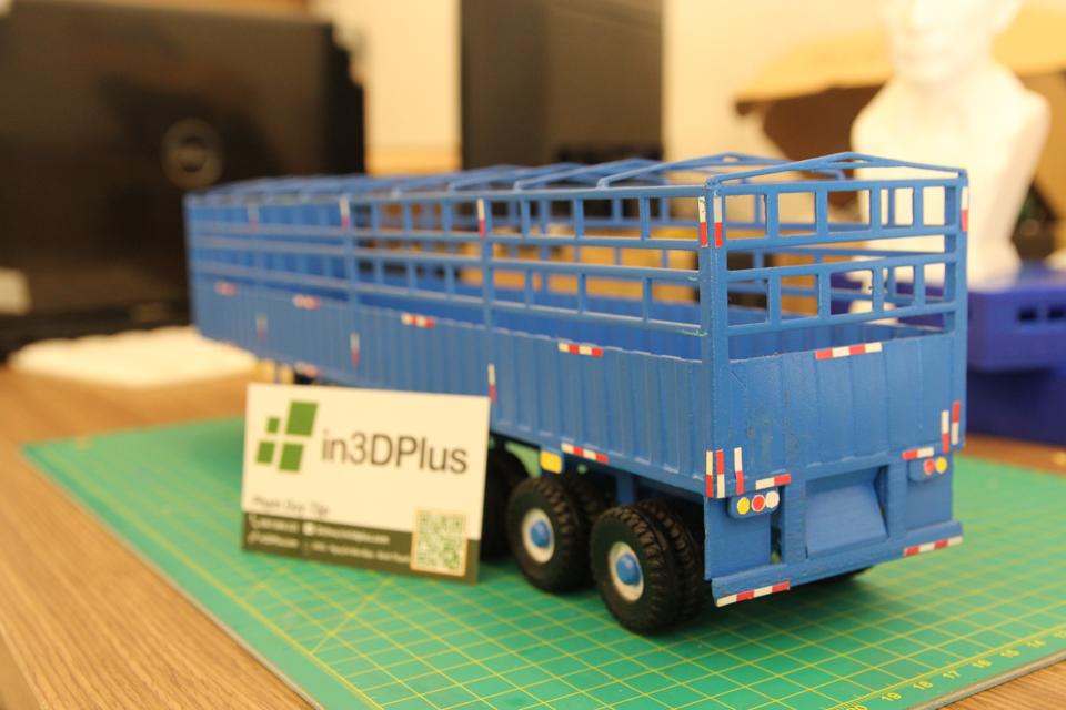 Tạo mẫu 3D mô hình xe rơ-móc Tân Thanh