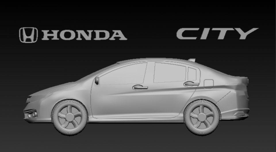 xe hon da city 2016 3d model, thiet ke xe hoi 3d