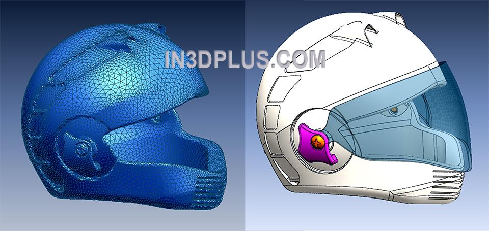 3D Scan và reverse mẫu nón bảo hiểm fullface