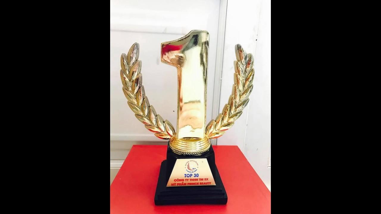 Làm cúp vàng truyền hình, tạo mẫu cúp kỷ niệm chương mạ vàng. 3D CUP