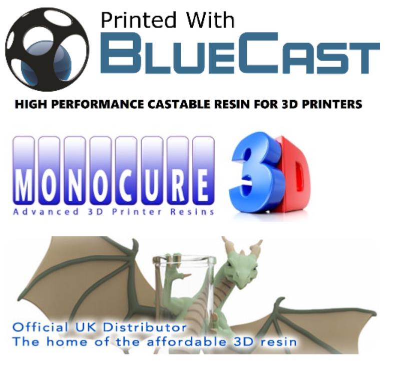 các dòng mực in 3D Resin mà shop 3DPLUS đang cung cấp: Monocure - Bluecast - Standard resin