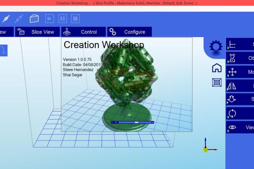 Cách dùng phần mềm Creation workshop chạy máy in 3D Resin DLP