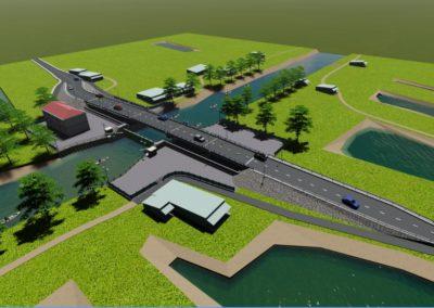 Mô hình sa bàn: công trình cầu, cống, kè, đập thủy lợi