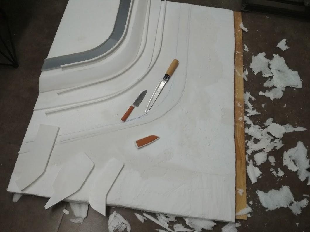 Một số thành phần của san bàn được làm bằng ...xốp!