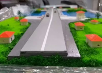 in 3D mẫu block nhà trên sa bàn