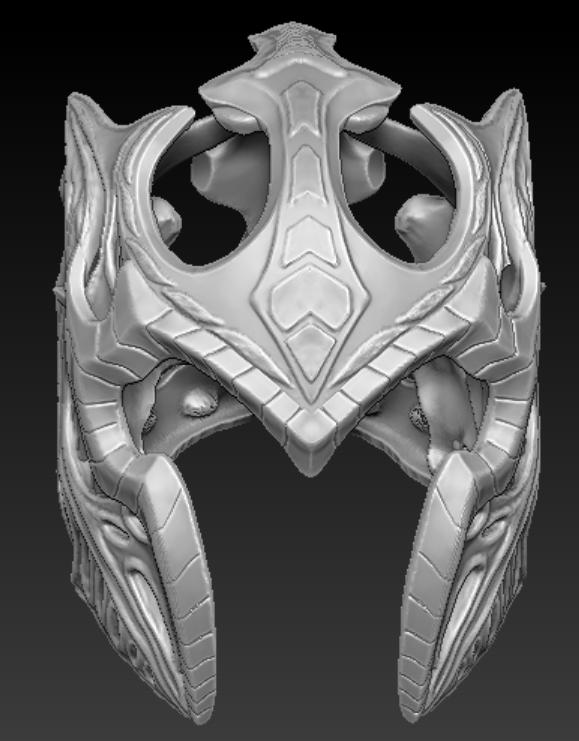 thiết kế và in 3D mặt nạ giáp sắt