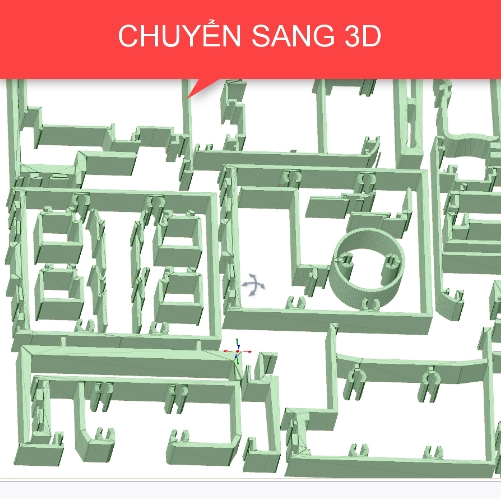 extrude 2D thành 3D cad