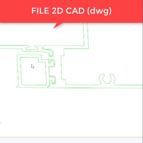 3DPLUS nhận file thiết kế 2D CAD ( Dwg, dxf, sketchup...) Sau đấy, chúng tôi sẽ chuyển các hình vẽ 2 chiều thành cac sdodwn vị profile 3D.