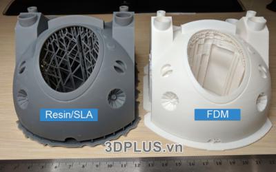 cong nghe in 3D FDM vs RESIN SLA