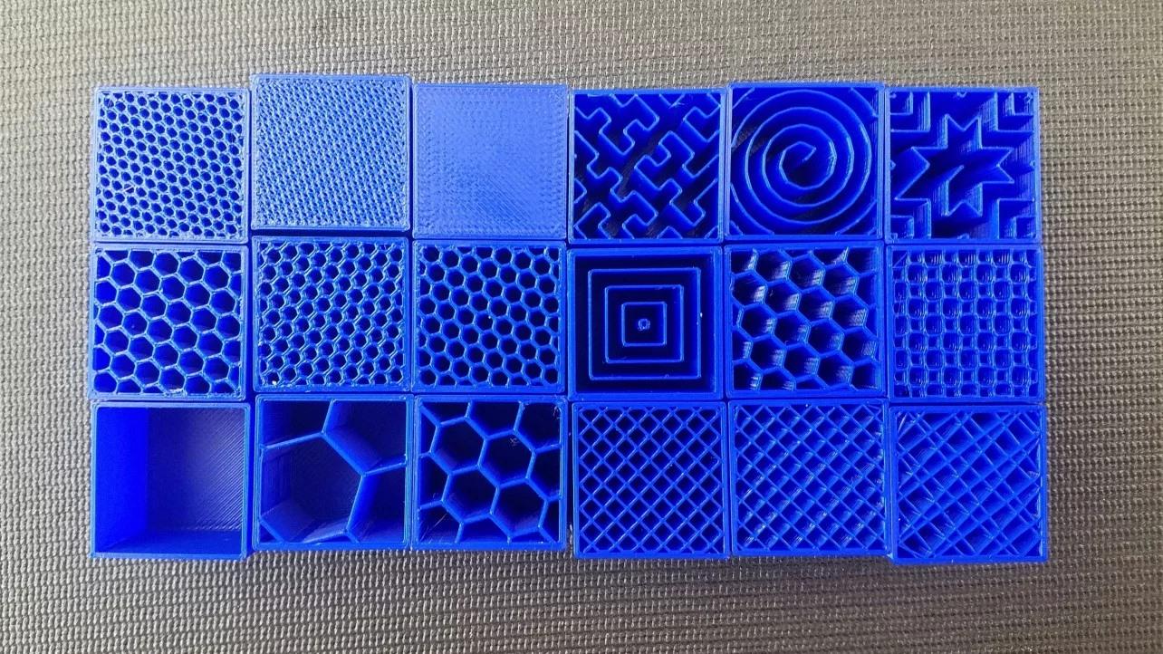 cấu trúc in 3D -infill shape