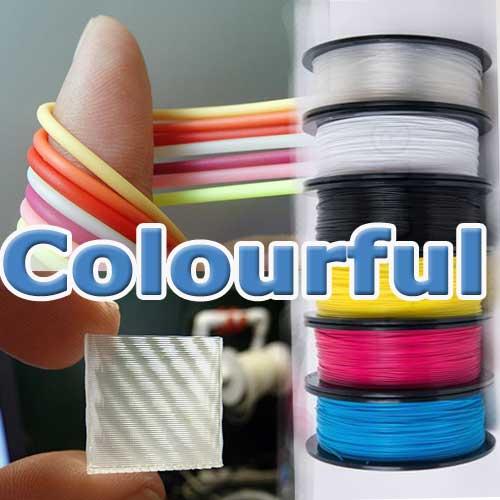 nhựa in 3D trong suốt, nhiều màu sặc sỡ