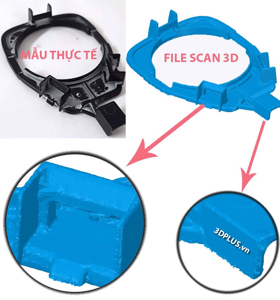 scan 3D ra file mesh có bị sai, 3DCAD mở file scan STL OBJ