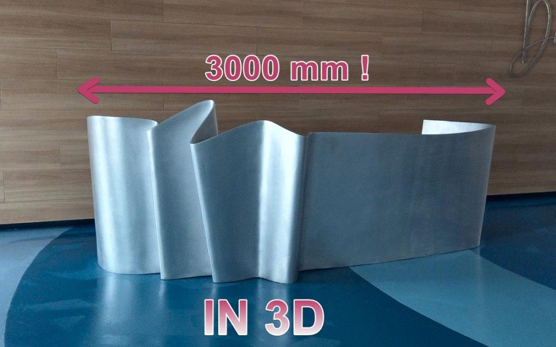 IN 3D quầy tiếp tân dài 3 mét!